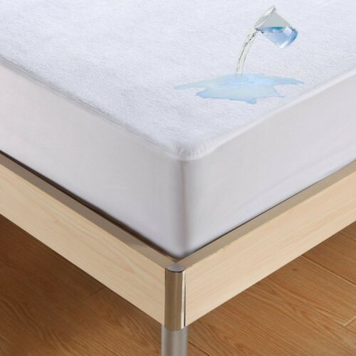 8 Sizes Waterproof Mattress Cover Protector Fitted Sheet Bed Pad Cover Bedspread
