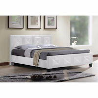 Deluxe Jewel Platform Bed - White - IF-178 - FREE DELIVERY