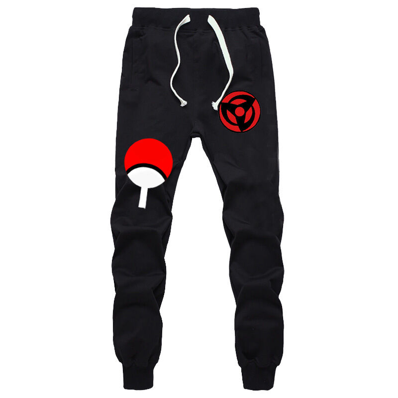 Anime Naruto Sasuke Cotton Pants Cosplay Sports Casual Trousers Sweatpants S-XXL