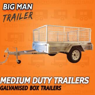 8x5 Single Axle Box ┌┐┌┐┌Trailer With Cage Galvanised