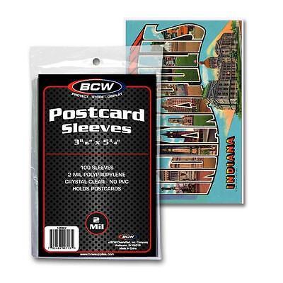 5 Packs  BCW Postcard Poly Sleeves Storage Holders Bags