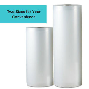 "Vacuum Sealer Rolls, Two (2),  11"" x 50' & 8"" x 50' Combo"