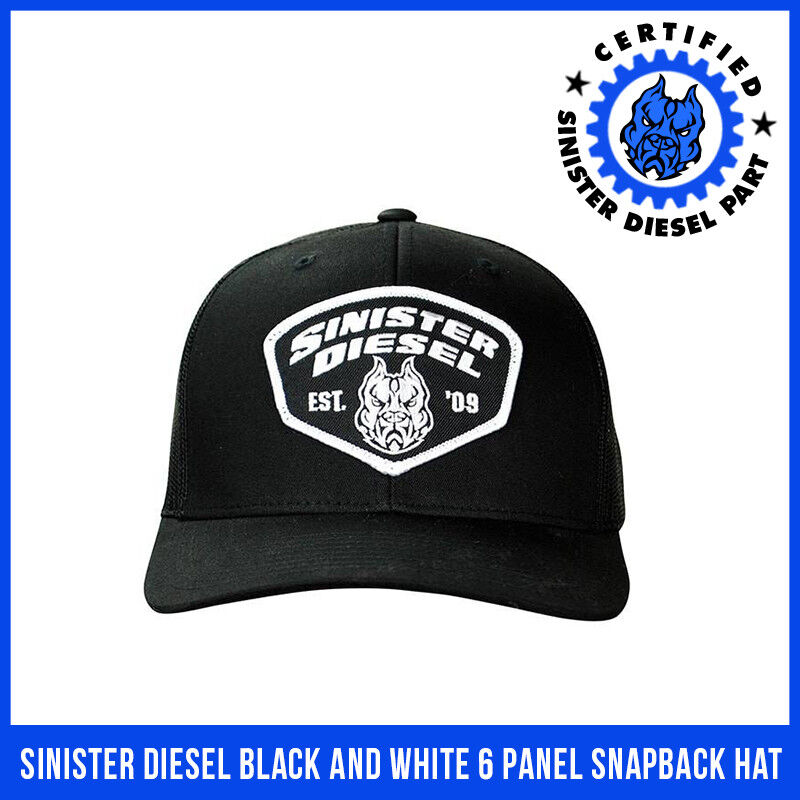 Details about Sinister Diesel Black and White 6 Panel Snapback Hat 388b79ad2ab