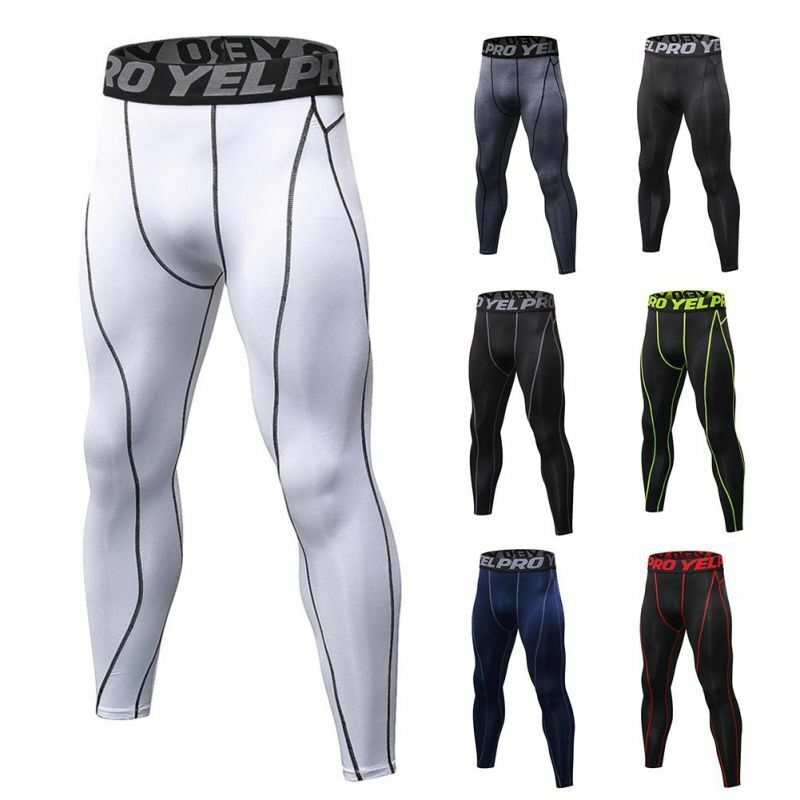 Men Athletic Compression Pants Baselayer Quick-dry Sports Running Gym Workout