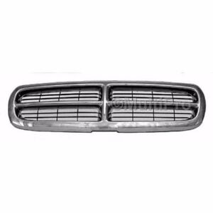 New Chrome/Black 1997-2004 Dodge Dakota Grille & FREE shipping