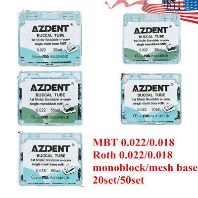 Orthodontic Bondable Mesh Base Buccal Tubes Mbt Roth 022018 1st Molar Non-conv