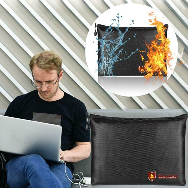 Fireproof Resistant Cash Envelope Safe Bag File Pouch S/M/L