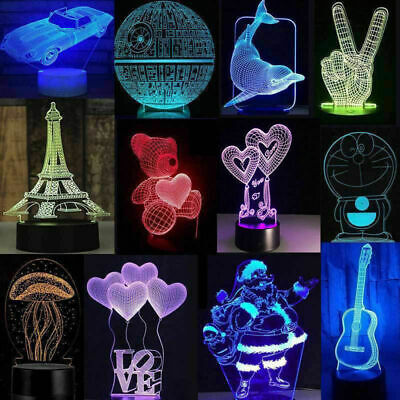 3D LED illusion Batman USB 7Color table Night Light Lamp Bedroom Child Gift USA (Nite Gift)