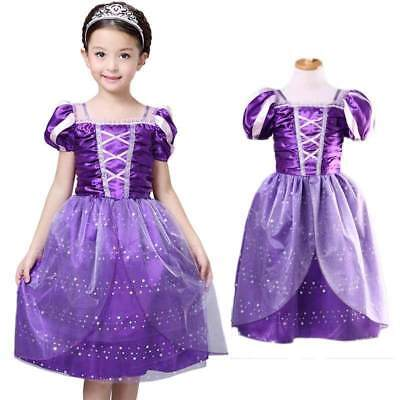 Vintage Kids Girls Princess Costume Fairytale Aurora Rapunzel Lace Party Dress](Rapunzel Costume For Girls)