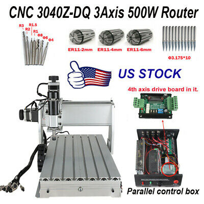 Cnc 3040z-dq Router 3 Axis Wood Engraving Milling Cutting Machine 500w Engraver