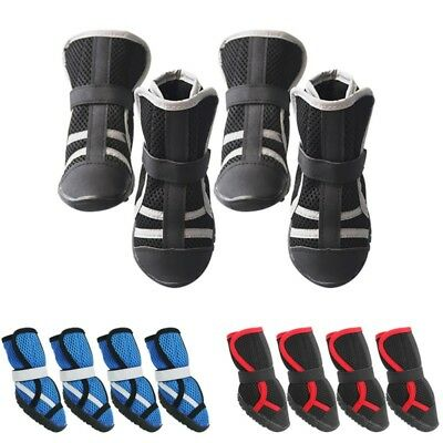 US Pet Dog Summer Shoe Puppy Protective Breathable Boots Anti-Slip Paw (Protective Pet Dog Boots)