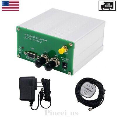 10mhz Sinwave 1pps Gps Disciplined Oscillator Antenna Power Supply Usa Stock