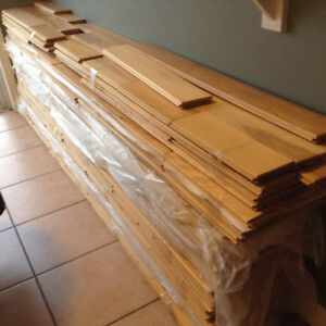 """Solid oak 3/4"""" tongue and groove flooring"""