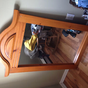 Wooden cased dresser mirror