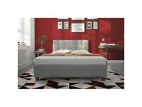 VELVET BED - FRAME BED IN PLUSH VELVET - CUBED BUTTON HEADBAORD - A+ FEEDBACK