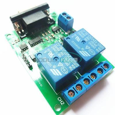 Dc 12v 2ch Rs232 Relay Board Remote Control Usb Pc Uart Com Serial Ports