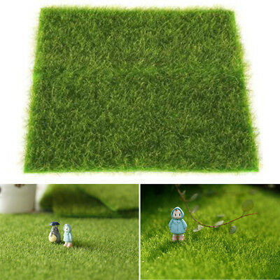 Moss Mat Artificial Green Sheet Grass Train Craft Fairy For Decor Garden - Green Grass Mats