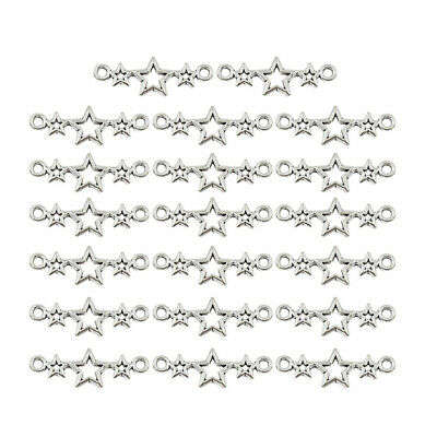 20pcs Hollow Star Connector Beads DIY Necklace Making Jewelry Accessories Charm