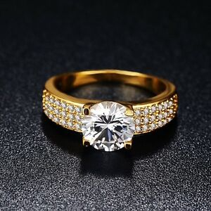 18k gold plated and simulated diamond ring size 8 Parkes Parkes Area Preview