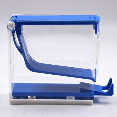 Dental Dentist Cotton Roll Roller Dispenser Holder Press Type Push Style Blue