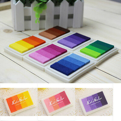 Craft Multi Colors Ink Pad Oil For Rubber Stamp Paper Wood Fabric Durable Fabric Craft Papers