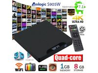 2018 4K W95 TV BOX 1GB+8GB Smart TV Box Android 7.1 Quad Core S905W 3D Media Player