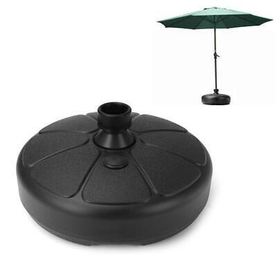 Outdoor Patio Umbrella Base Stand w/Valance Crank Tilt Sunshade Market Garden