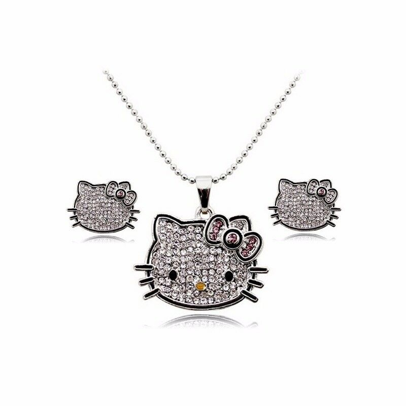 necklace earrings and ring jewelry set silver