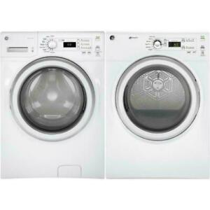 Front load washer-dryer combo, White, GE