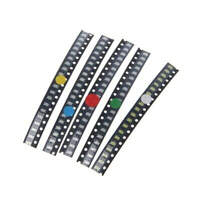 100 Pcs 1206 Smd Led Light Red White Green Blue Yellow 5 Colors Assotment Kit