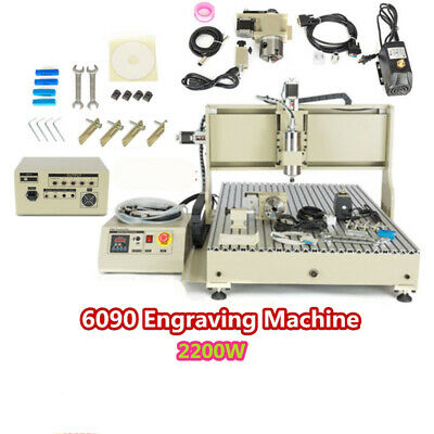 2.2kw 4 Axis 6090 Cnc Router Engraver Machine Milling Wood Steel Usb 3d Cutter