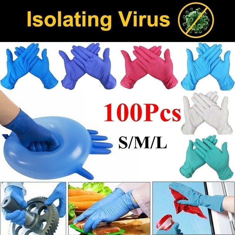 100pcs Disposable Gloves Kitchen/Medical /Work/Garden Univer