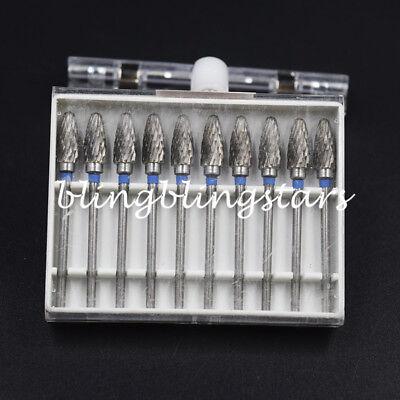 Tungsten Steel Dental Carbide Burs Lab Burrs Tooth Drill 2.35mm Grinder Bit F6