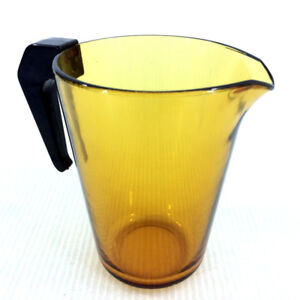 Butterscotch Amber Glass Jug Water Juice Pitcher Vereco France