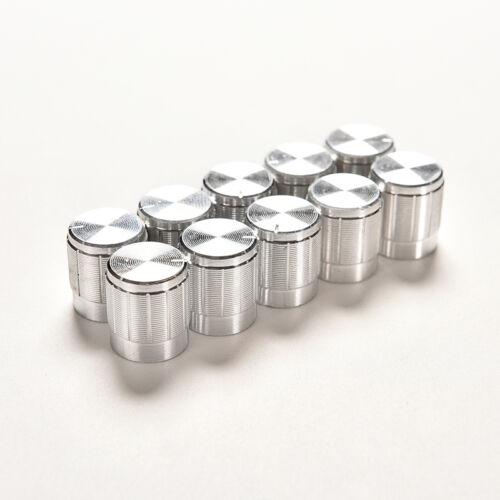 10X Aluminum Knob Rotary Switch Potentiometer Volume Control Pointer Hole 6mm S!