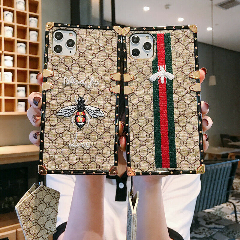 luxury embroidered bee square trunk case