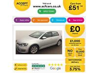 Volkswagen Golf 2.0TDI ( 150ps ) ( s/s ) DSG 2013MY SE FROM £51 PER WEEK!