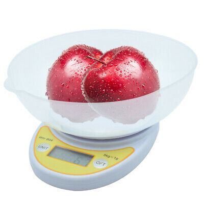 0.1g Digital Kitchen Scale Diet Food Scale with Weighing Bowl 1gx11lbs