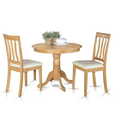 East West Furniture 3 Piece kitchen table set- table and 2 Dining Chairs NEW