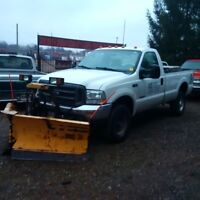 2004 Ford F-350 SuperDuty Diesel Pickup Truck with Fisher V-plow