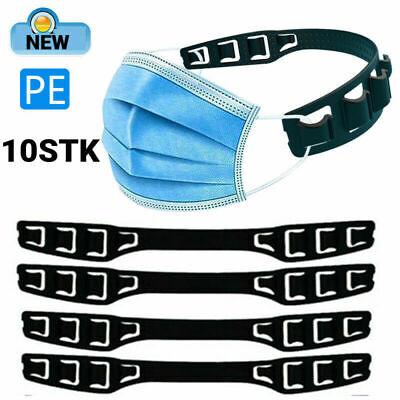 10PCS Maskenhalter für Schutzmaske Mundschutz Ohrenschoner Silikon Nackenband DE