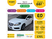 WHITE MERCEDES-BENZ A180 1.5 CDI SPORT AMG LINE A200 A220 1.8 FROM £67 PER WEEK!