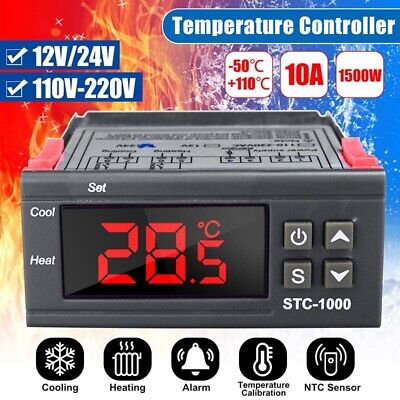 12v24v110v-220v Digital Temperature Controller Stc-1000 Pid Thermostat W Ntc