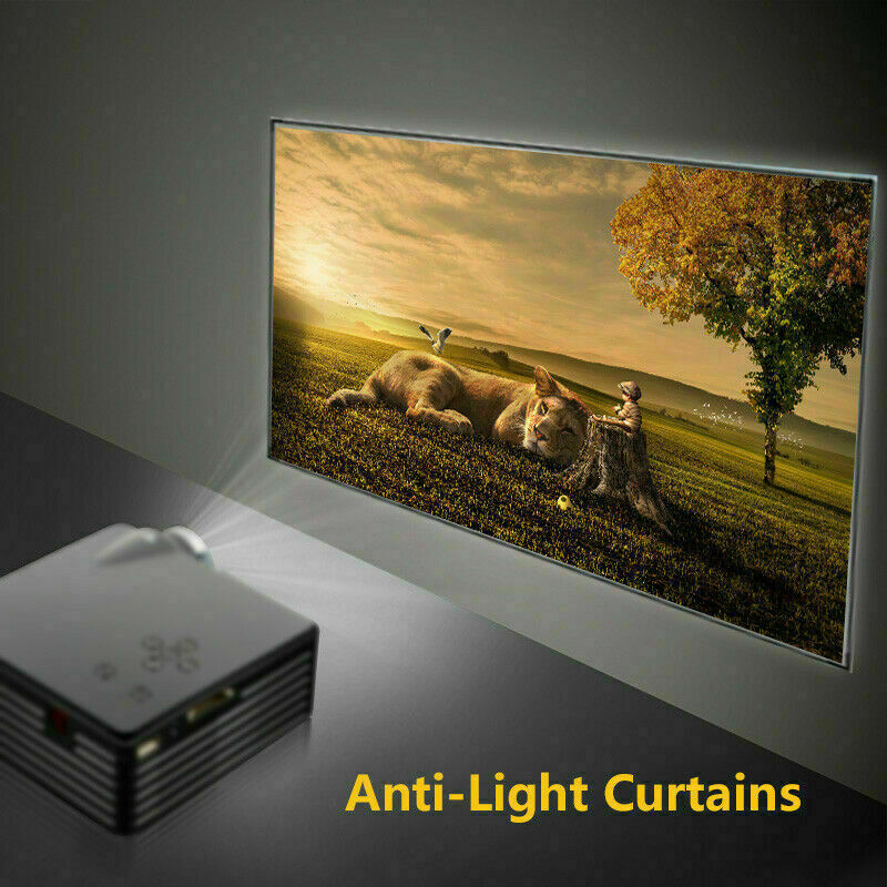 """100"""" Anti-Light Projection Screen Projector Screen 4K 3D Home Cinema Curtains US"""