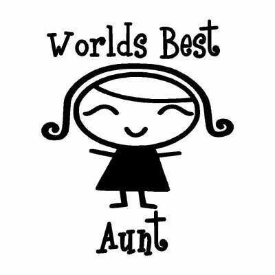 WORLDS BEST AUNT Vinyl, Car Decal Sticker, For Car, Window,