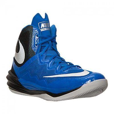 Nike Prime Hype DF II Basketball Shoes Mens  Sz 10  Blue Black Silver 806941 401