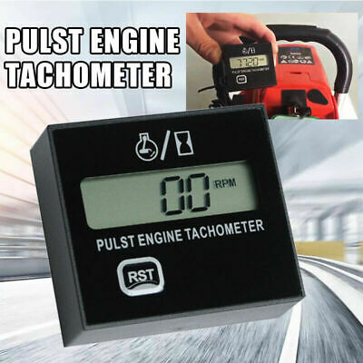 Lcd Digital Motor Tachometer Chainsaw Mower Inductive Pulse Engine Tachometer