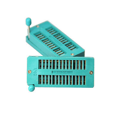 2Pcs 16P Pin 2.54mm green DIP test universal ZIF IC socket welding type JB