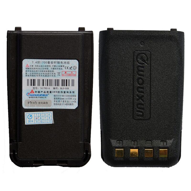 2 x Original 7.4V 2000mAh Li-ion battery BLO-010 for WOUXUN KG-UV9D KG-UV9D Plus
