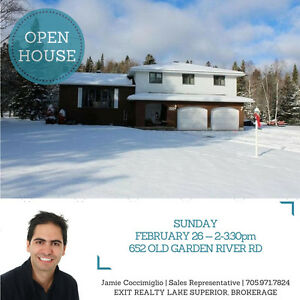 OPEN HOUSE! Sunday Feb 26th 2-3:30pm -- 652 Old Garden River Rd